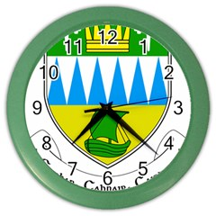Coat of Arms of County Kerry Color Wall Clocks