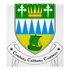 Coat of Arms of County Kerry Shower Curtain 66  x 72  (Large)
