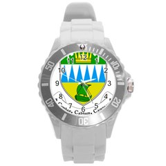 Coat Of Arms Of County Kerry Round Plastic Sport Watch (l)
