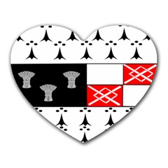 County Kilkenny Coat of Arms Heart Mousepads
