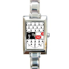 County Kilkenny Coat of Arms Rectangle Italian Charm Watch