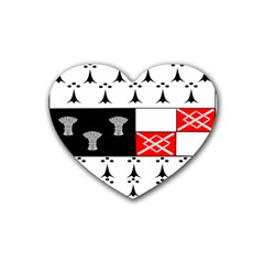 County Kilkenny Coat of Arms Rubber Coaster (Heart)