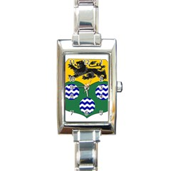 County Leitrim Coat of Arms Rectangle Italian Charm Watch