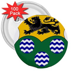 County Leitrim Coat of Arms 3  Buttons (100 pack)