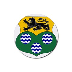 County Leitrim Coat of Arms Rubber Round Coaster (4 pack)