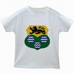 County Leitrim Coat of Arms Kids White T-Shirts