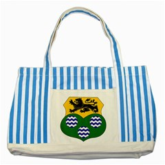 County Leitrim Coat of Arms Striped Blue Tote Bag