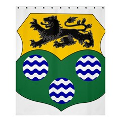 County Leitrim Coat of Arms Shower Curtain 60  x 72  (Medium)