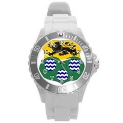 County Leitrim Coat Of Arms Round Plastic Sport Watch (l)