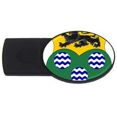 County Leitrim Coat of Arms  USB Flash Drive Oval (2 GB)