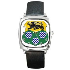County Leitrim Coat of Arms  Square Metal Watch