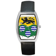 County Leitrim Coat of Arms  Barrel Style Metal Watch