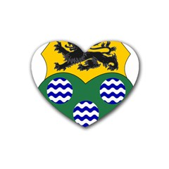 County Leitrim Coat of Arms  Heart Coaster (4 pack)