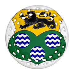 County Leitrim Coat of Arms  Ornament (Round Filigree)