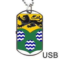 County Leitrim Coat of Arms  Dog Tag USB Flash (One Side)