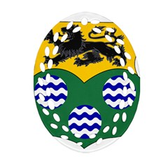 County Leitrim Coat of Arms  Ornament (Oval Filigree)