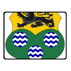 County Leitrim Coat of Arms  Double Sided Fleece Blanket (Small)
