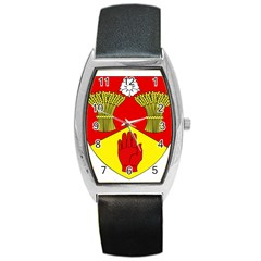 County Londonderry Coat of Arms Barrel Style Metal Watch