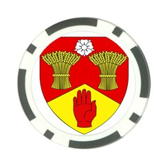 County Londonderry Coat of Arms Poker Chip Card Guard