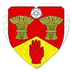 County Londonderry Coat of Arms  Jigsaw Puzzle (Heart)