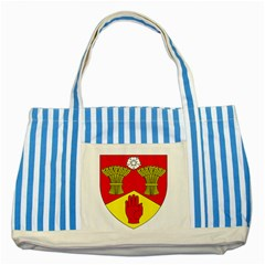 County Londonderry Coat of Arms  Striped Blue Tote Bag