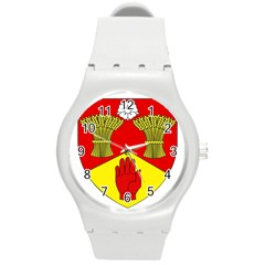 County Londonderry Coat of Arms  Round Plastic Sport Watch (M)