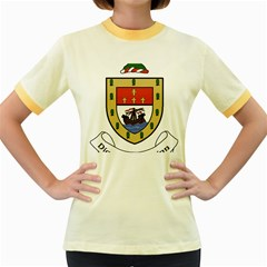 County Mayo Coat of Arms Women s Fitted Ringer T-Shirts