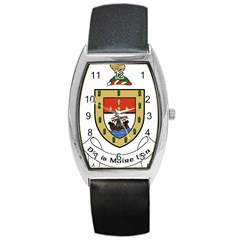County Mayo Coat of Arms Barrel Style Metal Watch