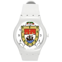 County Mayo Coat of Arms Round Plastic Sport Watch (M)