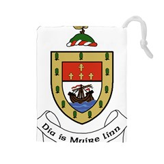 County Mayo Coat of Arms Drawstring Pouches (Large)