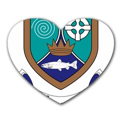 County Meath Coat of Arms Heart Mousepads