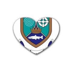 County Meath Coat of Arms Rubber Coaster (Heart)