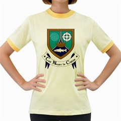 County Meath Coat of Arms Women s Fitted Ringer T-Shirts