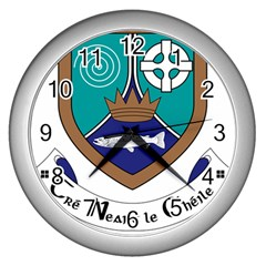 County Meath Coat of Arms Wall Clocks (Silver)