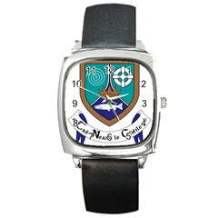 County Meath Coat of Arms Square Metal Watch