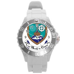 County Meath Coat of Arms Round Plastic Sport Watch (L)