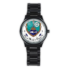 County Meath Coat of Arms Stainless Steel Round Watch