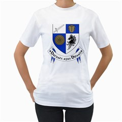 County Monaghan Coat of Arms  Women s T-Shirt (White) (Two Sided)