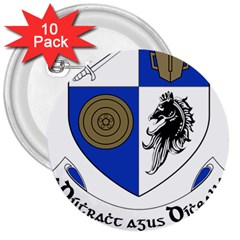 County Monaghan Coat of Arms  3  Buttons (10 pack)