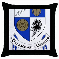 County Monaghan Coat of Arms  Throw Pillow Case (Black)