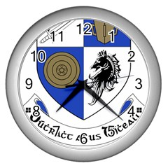 County Monaghan Coat of Arms  Wall Clocks (Silver)