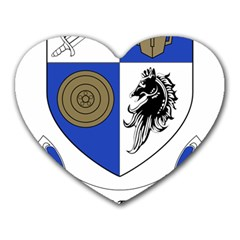 County Monaghan Coat of Arms  Heart Mousepads