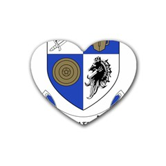County Monaghan Coat of Arms  Rubber Coaster (Heart)