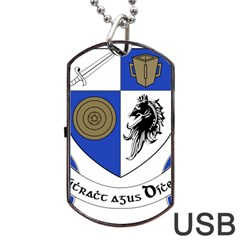 County Monaghan Coat of Arms  Dog Tag USB Flash (One Side)