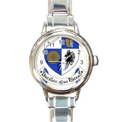County Monaghan Coat of Arms Round Italian Charm Watch