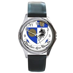 County Monaghan Coat of Arms Round Metal Watch