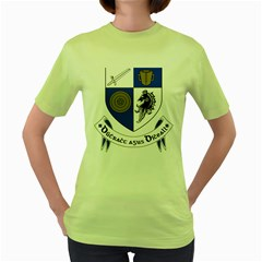 County Monaghan Coat of Arms Women s Green T-Shirt