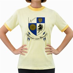 County Monaghan Coat of Arms Women s Fitted Ringer T-Shirts