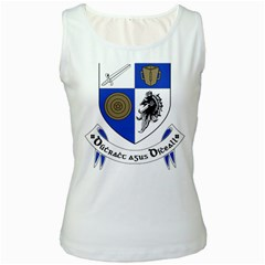County Monaghan Coat of Arms Women s White Tank Top
