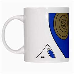 County Monaghan Coat of Arms White Mugs